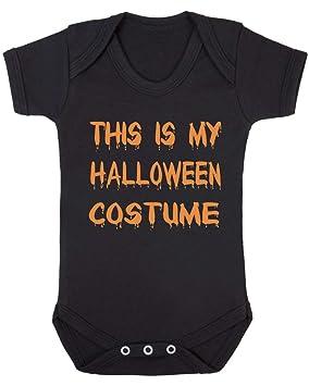 Este es mi disfraz bebé chaleco. negro Black Vest - Orange Vinyl ...