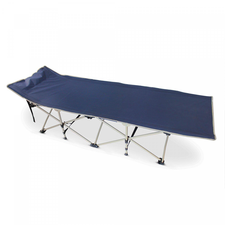 Bleu Marin Lit de Plage Pliant Mat/ériau: Polyester 600D Tubes en Acier Lit de Camp Leogreen 190 x 67 x 35 cm