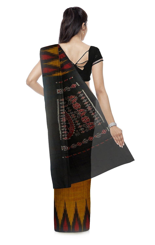 Brown Color Jamdani Cotton Saree With Blouse Piece