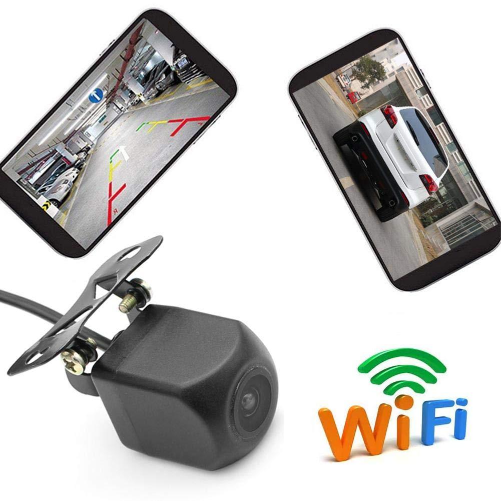 Monitor de estacionamiento y detec WIFI C/ámara de marcha atr/ás C/ámara de visi/ón nocturna C/ámara de visi/ón trasera autom/óvil Grabadora de conducci/ón impermeable para iPhone y Android Tac/ógrafo