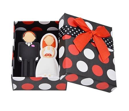FEBNISCTE 16GB per USB-Stick 2.0 Ein Paar Hochzeitsgeschenke Flash-Speicherstick