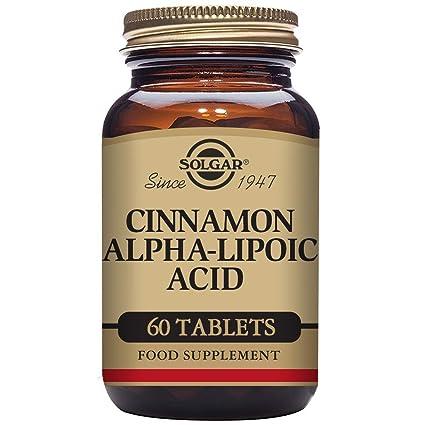 1353a7e63796 Solgar, Cinnamon Alpha-Lipoic Acid, 60 Tablets  Amazon.fr  Hygiène ...