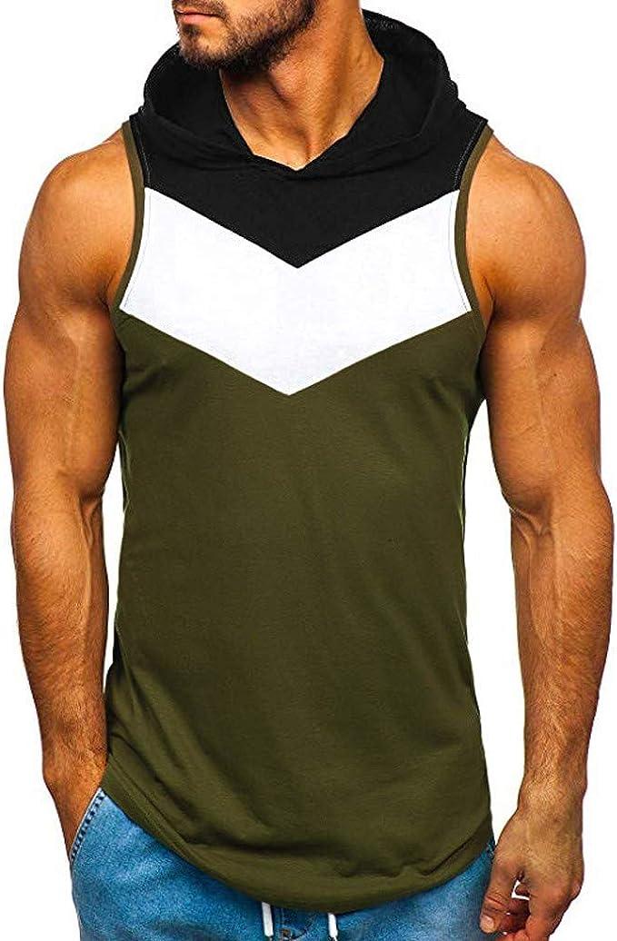 Uomo Tank Top Senza Maniche Bodybuilding T-Shirt Canotte Sportivo Camicetta Animal