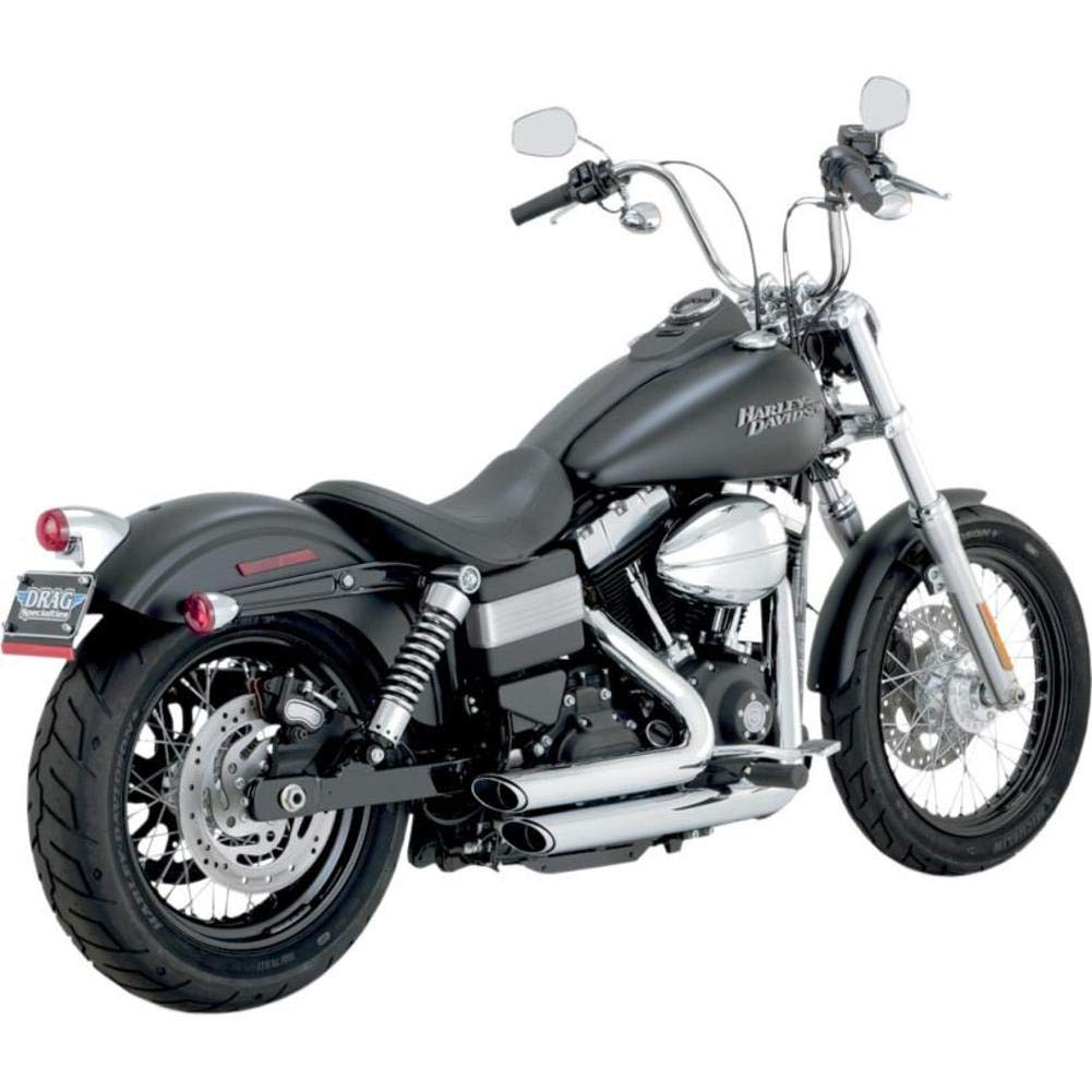 Vance /& Hines Shortshots Staggered Chrome Exhaust 2012 Harley Dyna 17227