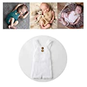 Vemonllas Luxury Fashion Unisex Newborn Baby Girl Boy Outfits Photography Props Rompers (White)