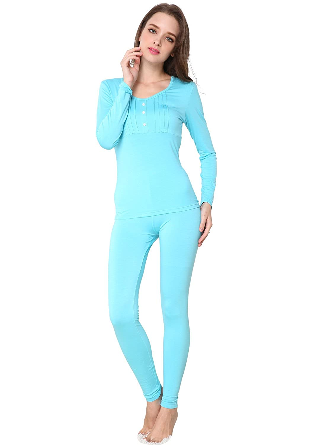 Godsen Women's Thermal Set Long Sleeve Shirts & Pants