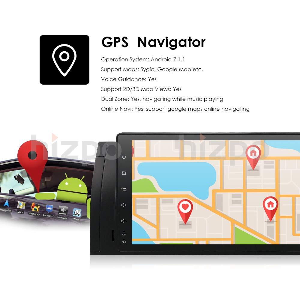 Android 7.1 coche Multimedia GPS estéreo para BMW 5 Series E39 E53 X5 M5 vehículo Single DIN 9 Inch En Dash unidad central HD pantalla táctil coche ...