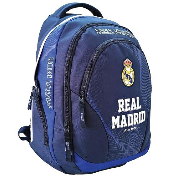 Real Madrid Exclusiv y ergonómico Mochila Ronaldo Mochila Escolar Bolsa 45 x 31 x 16 cm Acero 2018: Amazon.es: Deportes y aire libre