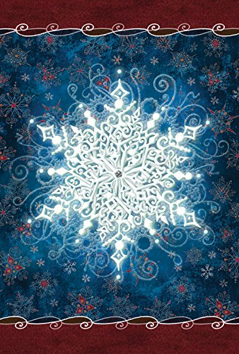 - Toland Home Garden Solo Snowflake 28 x 40 Inch Decorative Winter Design House Flag (1010546)