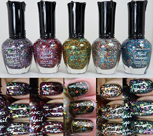 5-pcs-new-kleancolor-glitter-collection-nail-polish-colors