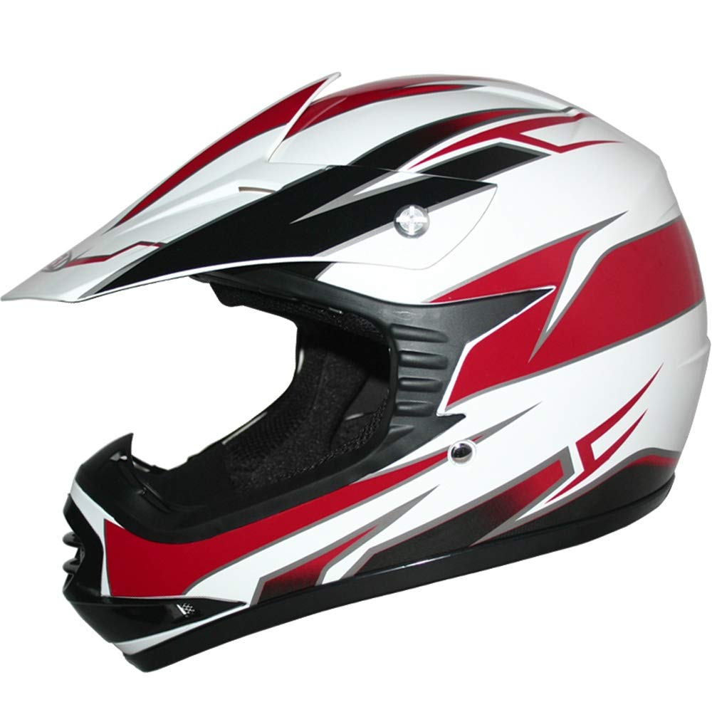 Leopard LEO-X16 Kids Motocross HELMET /& GOGGLES 55cm Pink XL - Children Cub Dirt Quad Bike MX Motorbike Helmet