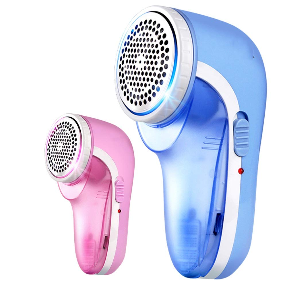 Wei Zhe- Fabric Shaver- Lint Remover Clothes Shaver Portable Rechageable Bobbles Fabric Shaver for Home Portable Clothing Razor (Color : Pink, Size : 4 Blade)