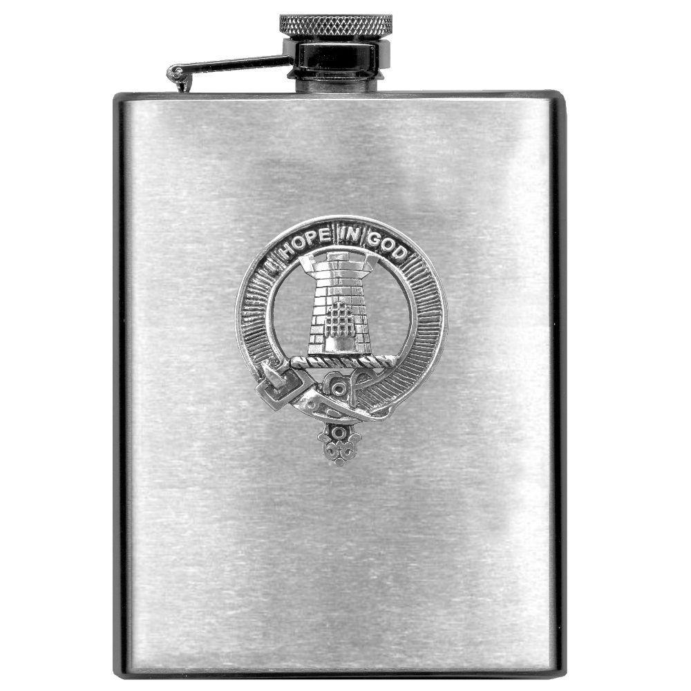 MacNaughton Scottish Clan Stainless Steel 8oz Flask