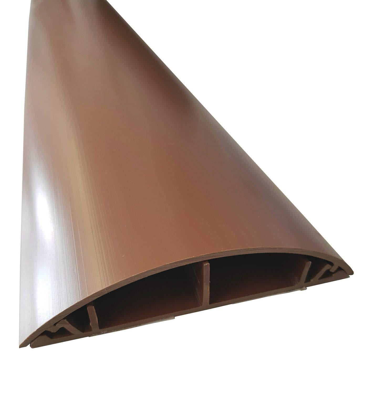 1m Fussboden Kabelkanal 120mm Breite selbstklebend, Farbe:grau NETPROSHOP
