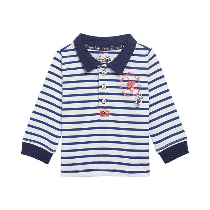 Sergent Major - Polo - para bebé niño azul marino 6 Meses: Amazon ...