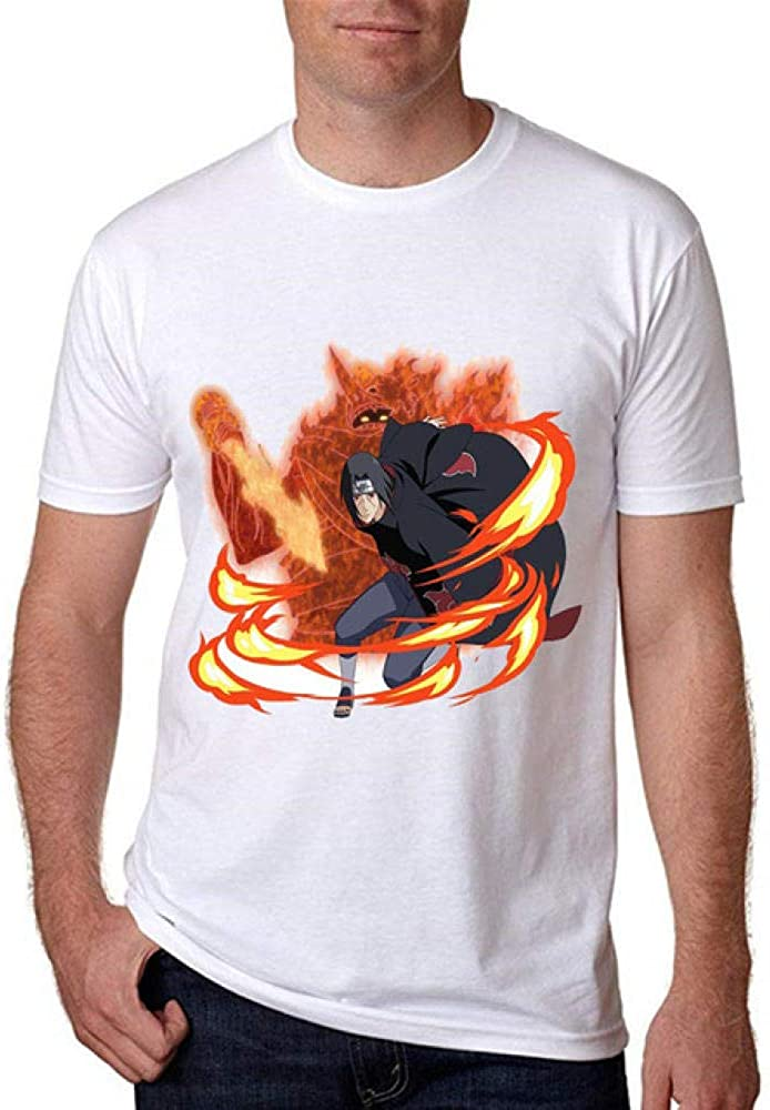TWQOFV Camisetas Hombre y niño Iguales Naruto Ropa de Hombre Camiseta Algodón Streetwear Camiseta Camisetas Divertidas Camisetas Casual Camiseta Graciosa Blanca s: Amazon.es: Ropa y accesorios