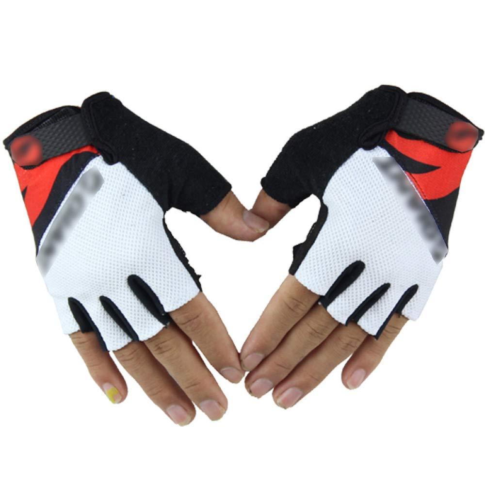 YIWANGO Herrenhandschuhe, Halbe Fingerreiten, Rutschfeste, Atmungsaktive Handschuhe,2-OneSize