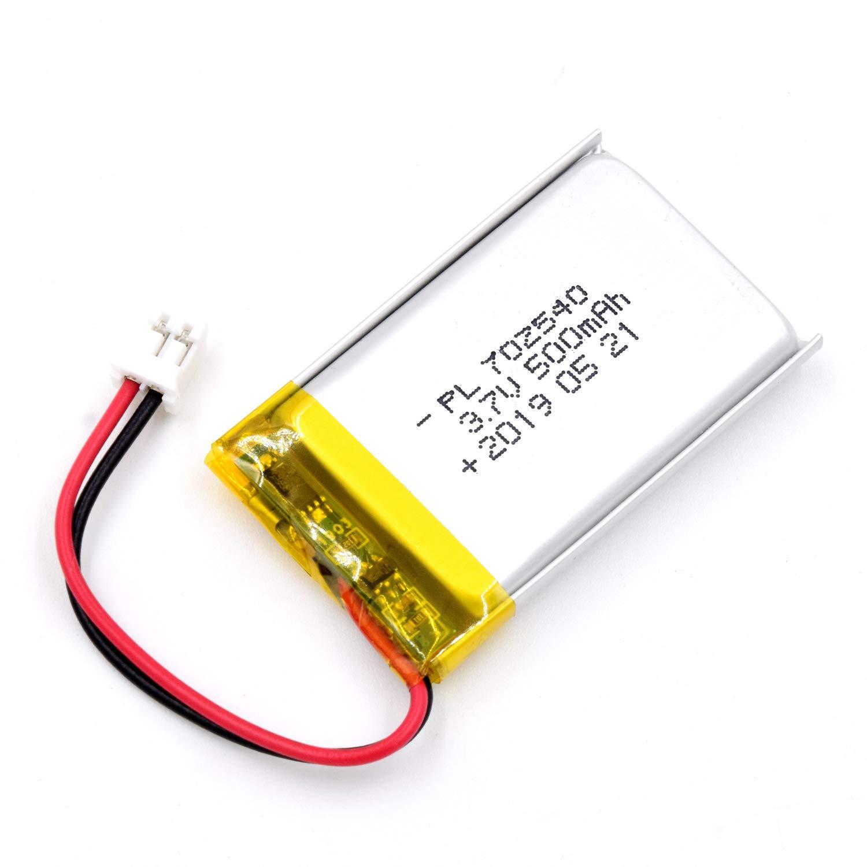 Bateria Lipo 3.7V 500mAh 702540 Recargable JST Conector