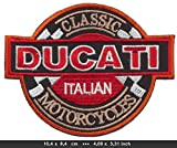 Ducati Classic Italian Motorcycles Motorrad Italien cotton patches Logo Vest Jacket Hat Hoodie Backpack Iron On patches