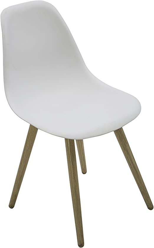 Hespéride Chaise de Jardin scandinave North - Blanc Pieds ...