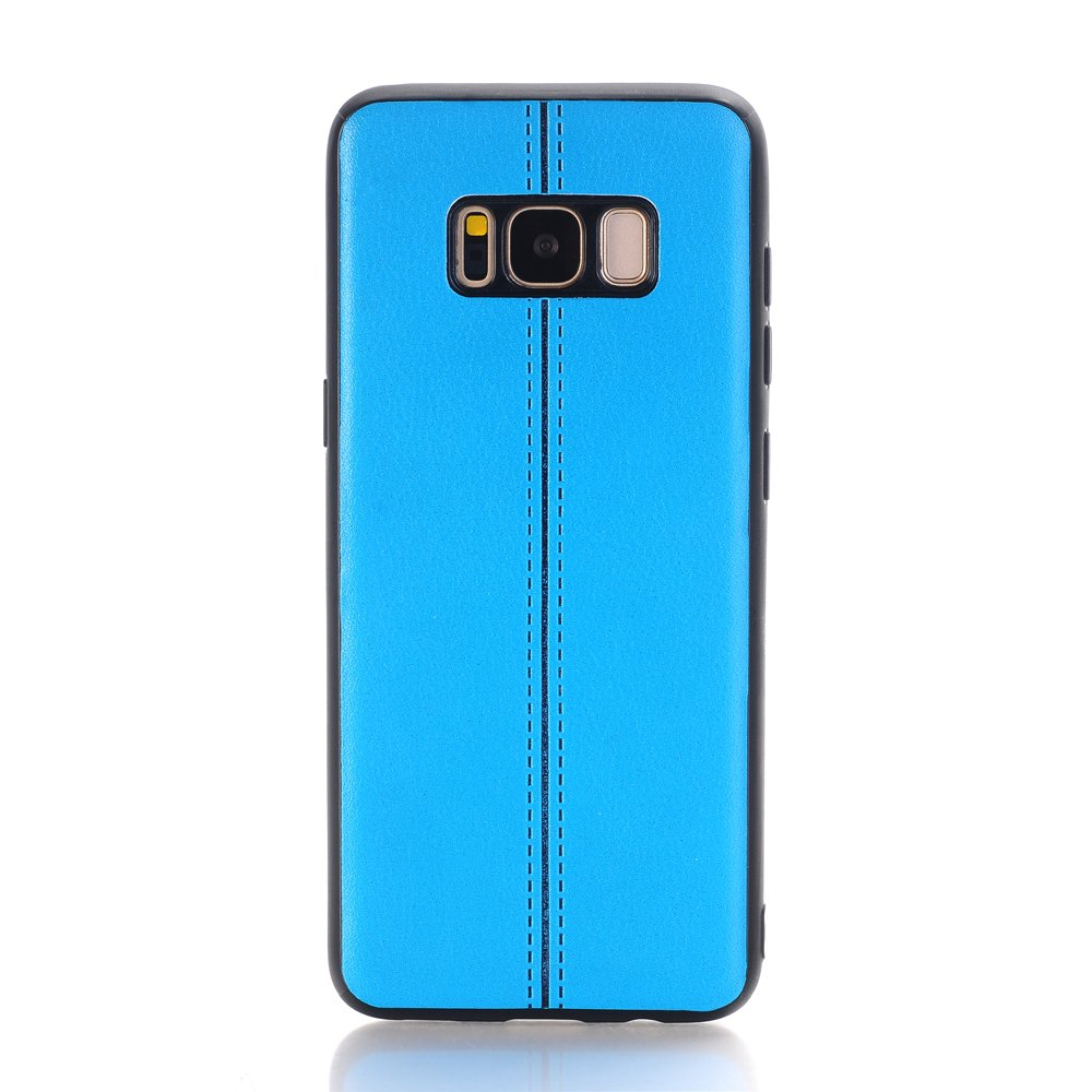 Samsung S8 Case Speck, Lightweight Slim Premium PU Leather Luxury Stylish Classic Style Fit Retro Ultra Thin Full Body Protective Cover Case for 5.8inch Samsung Galaxy S8- Blue