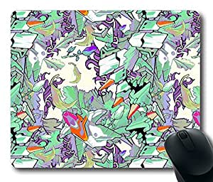 """Optimized Floral Pattern Rectangle Oblong Mouse Pad Design Mousepad in 220mm*180mm*3mm (9""""*7"""") -81910"""
