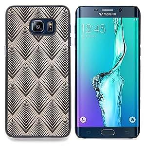 "For Samsung Galaxy S6 Edge Plus / S6 Edge+ G928 Case , Patrón Vignette Retro Wallpaper"" - Diseño Patrón Teléfono Caso Cubierta Case Bumper Duro Protección Case Cover Funda"
