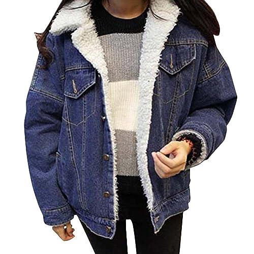 Mujer Casual Retro Suelto Manga Larga Abrigos Chaquetas Jacket De Mezclilla Abrigo Chaqueta