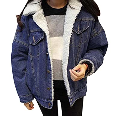 Mujer Casual Retro Suelto Manga Larga Abrigos Chaquetas Jacket De Mezclilla Abrigo Chaqueta Azul XL: Amazon.es: Ropa y accesorios