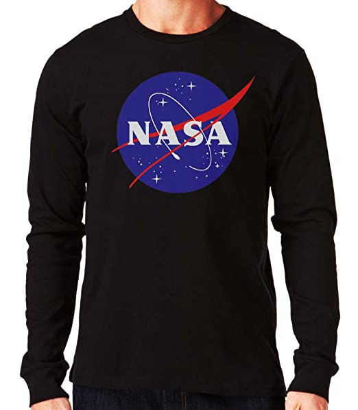 35mm - Camiseta Manga Larga NASA Logo Retro Old School, Hombre: Amazon.es: Ropa y accesorios