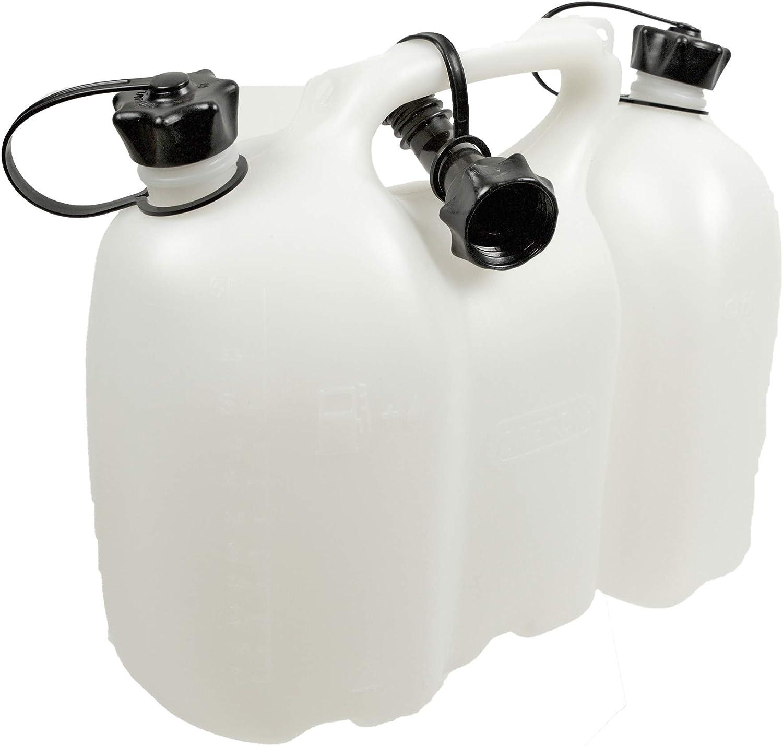 Oregon 562406 - Combi-can, transparente, combustible 6 litros y 3 litros de aceite profesional