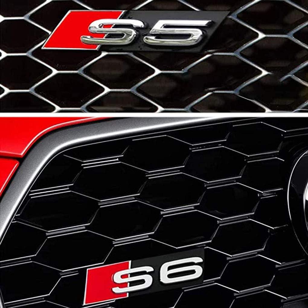 f/ür Audi S4 WNMASS Auto Vorne K/ühlergrill Emblem Badge Abzeichen Aufkleber Dekoration Logo Refit Zubeh/ör Auto Styling