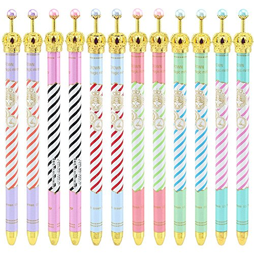 Ipienlee Crown Desigh Gel Pens for School, Office or Family Use, (Crown Stationery)