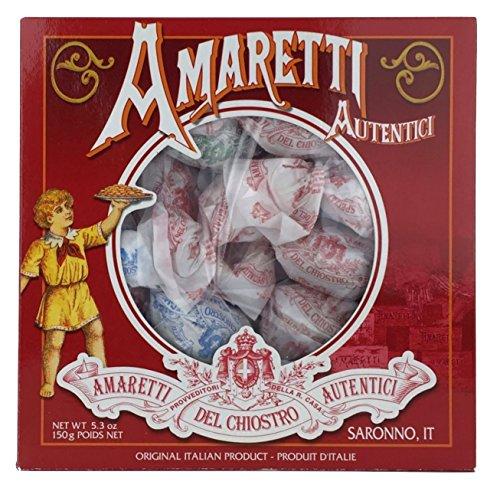 Biscuits Italian - Amaretti Del Chiostro, Amaretti Di Saronno Crunchy Italian Cookies, 5.3 Ounce Window Box