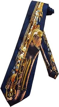 Corbata para hombre con saxofón musical - Azul - Corbata de un ...