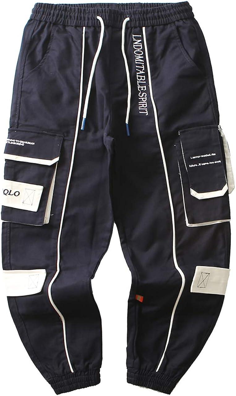 Irypulse Unisex Carga Pantalones Combate Trousers Cordones Multi Bolsillos T/áctico Ropa Pants para Hombres Mujeres J/óvenes Oto/ño Invierno