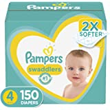 Pampers Swaddlers Disposable Baby Diapers Diapers Size 4 (Pack of 150)
