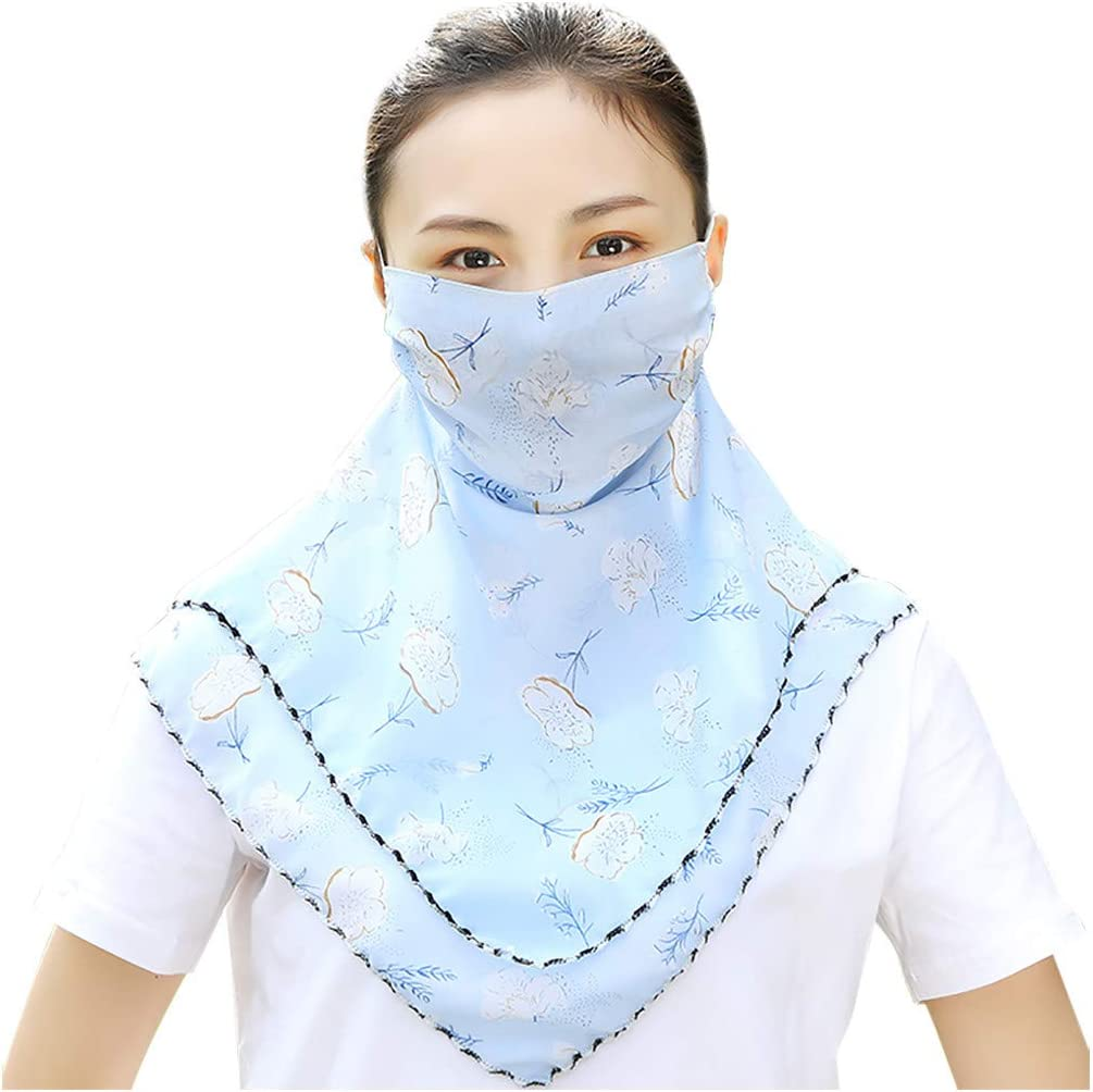 Aommy Women Anti Dust Sand PM2.5 Exhaust-Outdoor Haze Lightweight Sunscreen Face Mask Breathable Cycling Unisex Mask,for Children,Adults,Seniors,Women Trumpet Geometry
