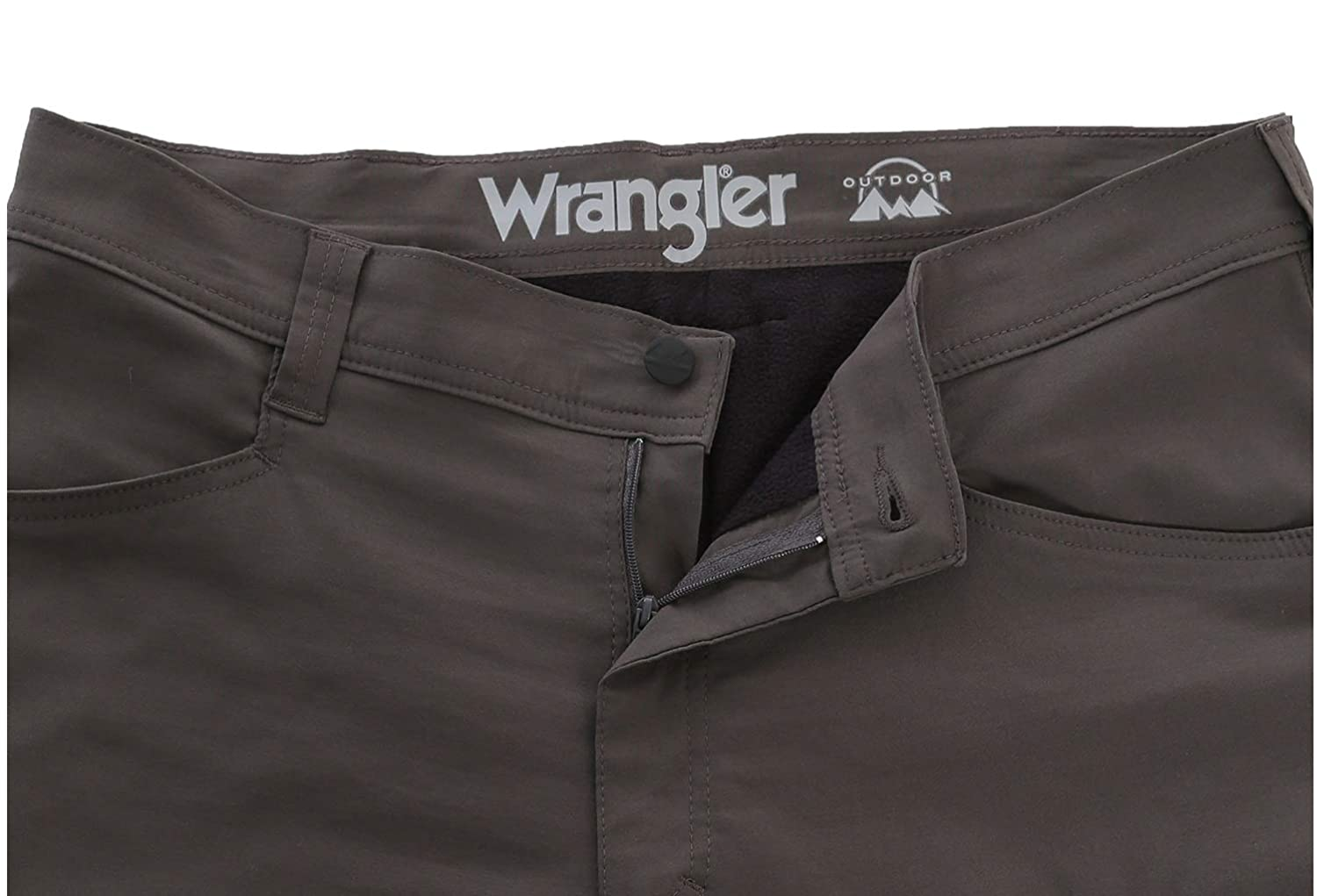 Wrangler Mens Pants Size 34 x 34 Fleece Lined Outdoor Straight fit Water Repellent UPF30 Lightweight Performance Grey
