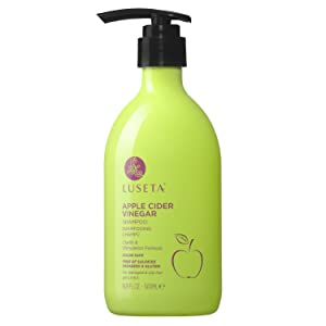 Luseta Hair Shampoo, Infused with Apple Cider Vinegar for Clarify & Stimulation, Natural Balance Sulfate & pareteen Free 500ml