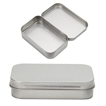LAYs Small Metal Flip Storage Box Case Tin Silver For Money Coin Candy Key  Jewelry Storage