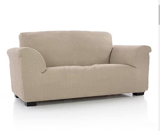 textil-home Funda de Sofá Elástica TIDAFORS, 3 plazas - Desde 180 a 240 cm. Color Beige (Modelo Exclusivo Funda Sofá TIDAFORS IKEA)