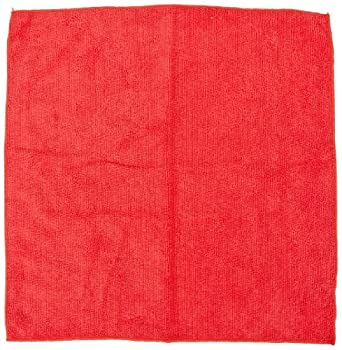 "Impact LFK450 Microfiber All-Purpose Cloth, 16"" Length x 16"" Width, Red (15 Bags of 12)"