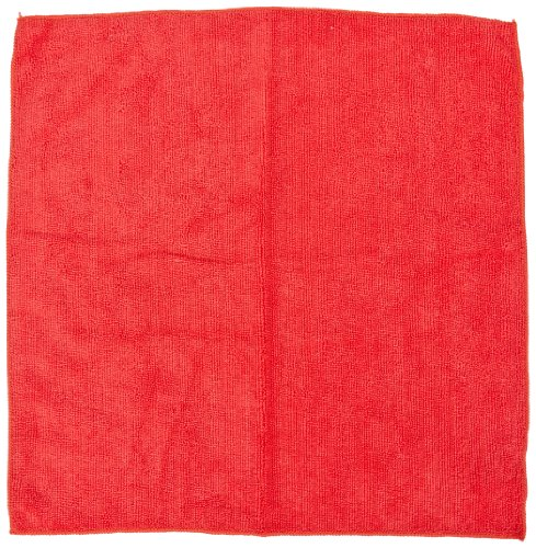 Impact LFK450 Microfiber All-Purpose Cloth, 16'' Length x 16'' Width, Red (15 Bags of 12) by Impact Products