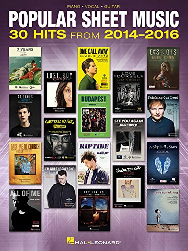Popular Sheet Music: 30 Hits from 2014-2016 (Music Sheet Rock Guitar)