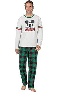 Mickey Mouse Pajamas Red//Gray GKPJ06038-STD PajamaGram Mens Pajamas Set Cotton