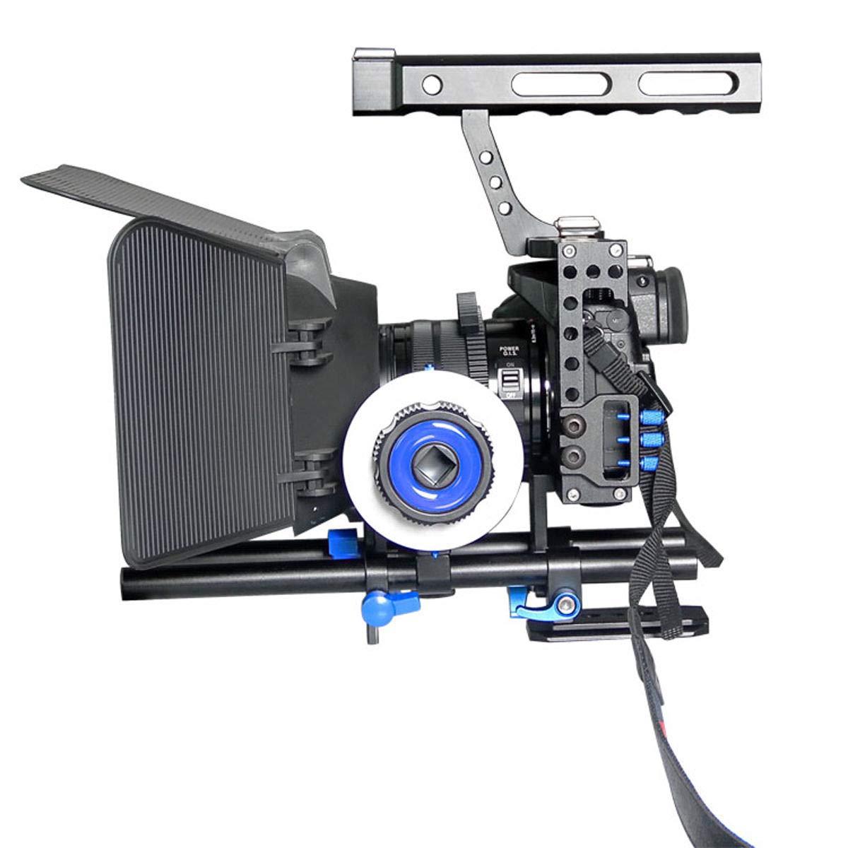 FidgetFidget Stabilizers for DSLR Camera Cage + Follow Focus + Matte Box Kit for Sony A7S A7 A7R A7RII A7SII by FidgetFidget (Image #5)