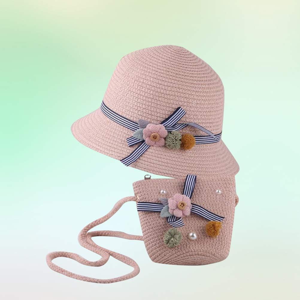 TENDYCOCO 2pcs Kids Straw hat Sun Hats Summer Beach Hats Outdoor Activities