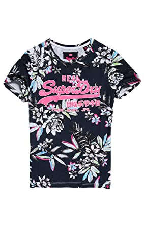 Superdry Vintage Logo Tropical AOP Entr T Shirt Femme