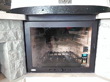 HotFireDoor Puerta para Chimenea con Cristal vitrocerámico